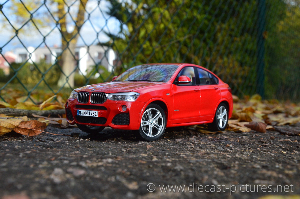BMW X4 F26 Red Paragon models 1:18