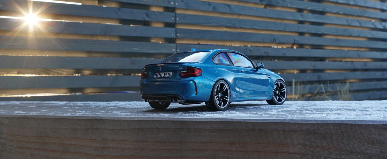 BMW M2 Coupe F87 Long Beach Blue Minichamps 1:18