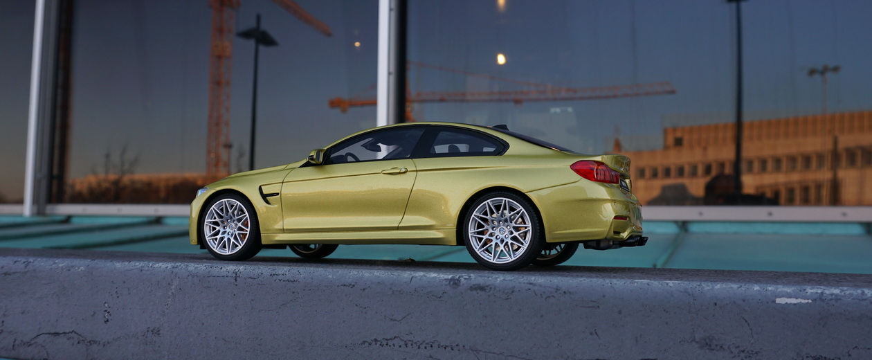 BMW M4 Yellow F82 Competition GT Spirit 1:18